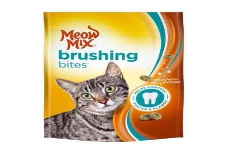 Meow Mix Brushing Bites Dental Treats Made 65 g!