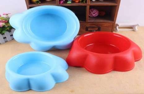 Plastic Pet Single Food Bowl – Kitty Face!