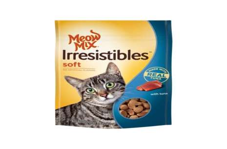Meow Mix Irresistibles Soft With Tuna Cat Treats 8!