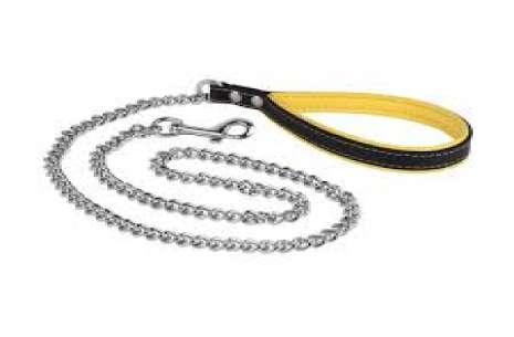 5 Feet Chain Leash with Soft Handle!