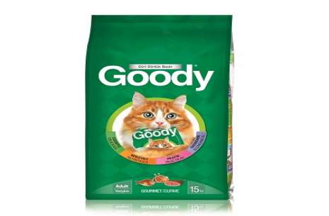 GOODY CAT FOOD 15KG ( MEAT + GOURMET )!
