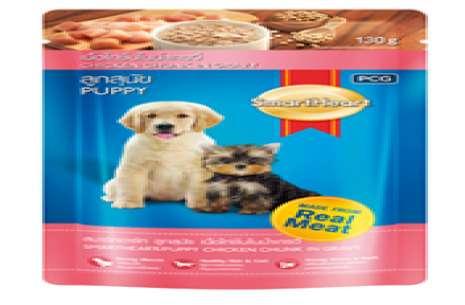 Smartheart Dog Puppy Pouch Beef, Chicken Chunk In !
