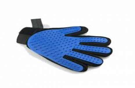 Groming Glove Plastic (BLUE)!