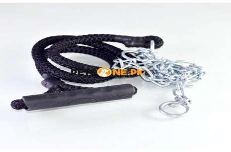 6.5 Feet Nylon Rope and Chain Hybrid Dog Leash n C!