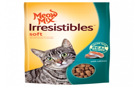 Meow Mix Irresistibles Soft With Salmon Cat Treats!
