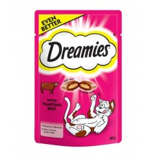 Dreamies Pouch with Tempting Beef - 60g!
