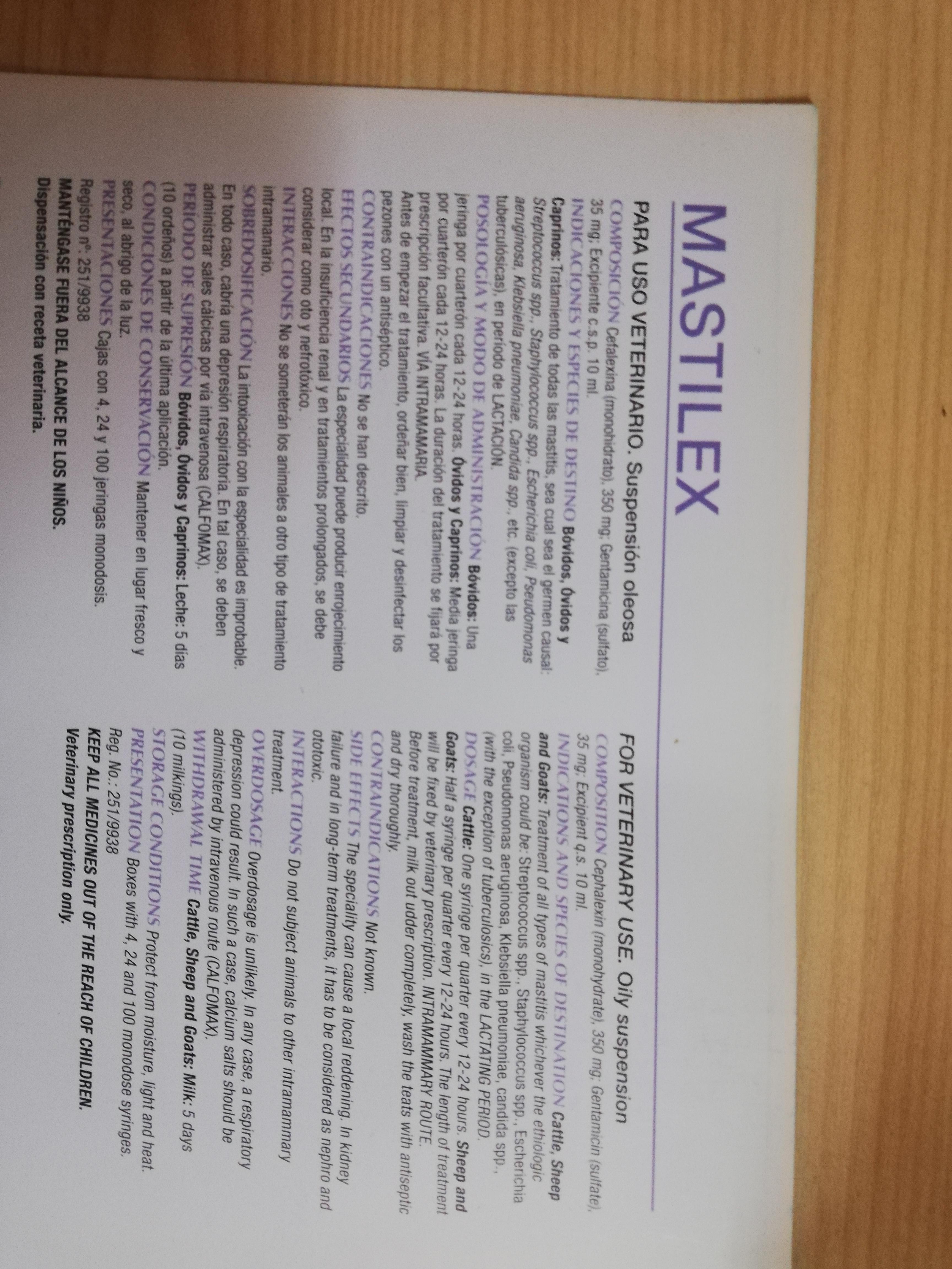 Mastilex I M Tubes!
