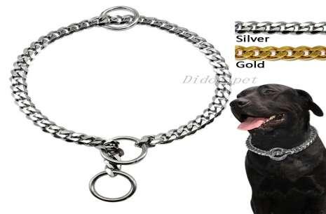 Dog Slip Chains Choke Collar Dog Metal Chain Colla!