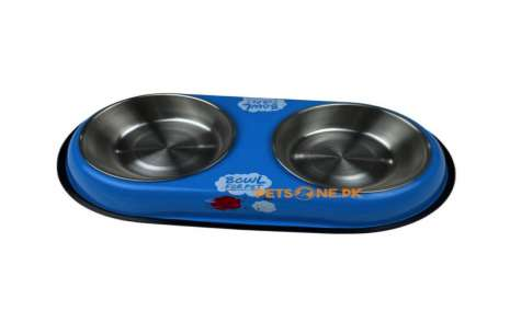 Stainless Steel Dual Pet Food Bowl M!