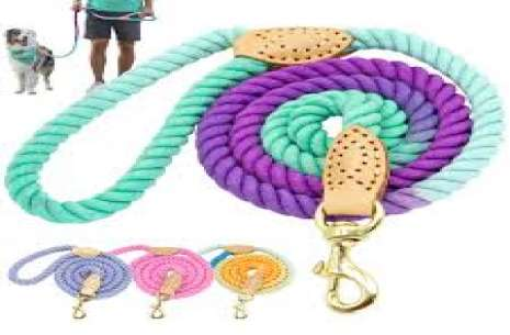 Round Rope Leash With Coller L!