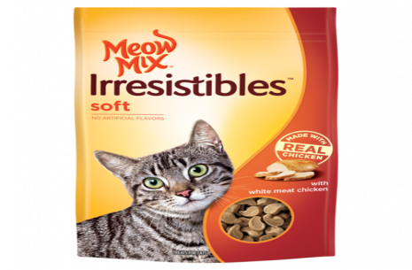 Meow Irresistibles Soft With White Meat Chicken Ca!