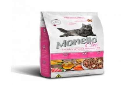 MONELLO ADULT CAT FOOD – SALMON CHICKEN and TUNA!