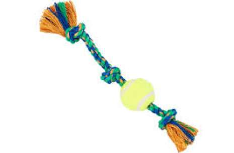Dog treat Bass Ball Toy With Rope!